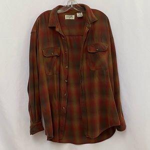 Vintage Hudson Bay plaid shirt